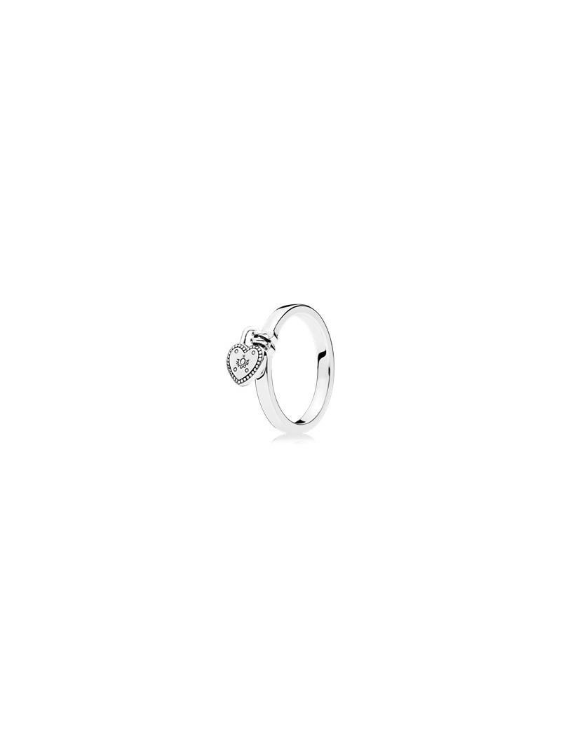pandora anello cuore pendente